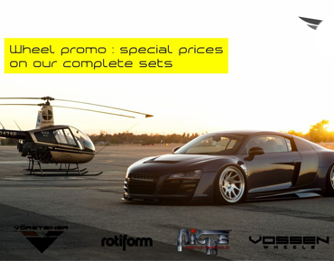 Wheels promo: special prices on complete sets